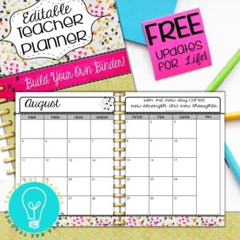 Ultimate Teacher Planner & Organizer Binder - EDITABLE {Hearts}