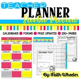 Editable Teacher Planner Preview