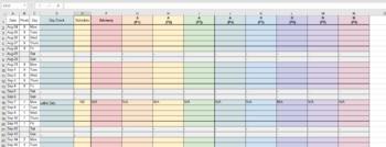 Editable Teacher Planner Spreadsheet Template