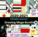 Editable Teacher Planner Teacher Binder 2019-2020 Disc Planner Bundle