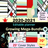 Editable Teacher Planner Teacher Binder 2019-2020 Disc Pla