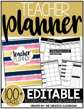 Editable Teacher Planner & Organizer Binder {The Glam Teacher}