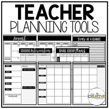 editable teacher planner organizer binder the glam teacher tpt