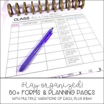 Editable Teacher Binder/Planner - {NOT Your Average Teacher Planner}
