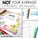 Editable Teacher Planner - NOT Your Average Teacher Planne