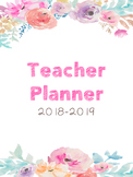 Teacher Planner and Toolkit (Watercolor Flowers)