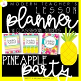 Editable Teacher Planner and Classroom Binder Pineapple Party