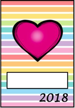 2018 Editable Teacher Planner - Rainbow Stripe