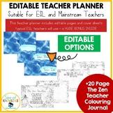 Editable Teacher Planner for ESL Teachers + BONUS Colourin