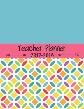 Editable Teacher Planner for High School and Middle School - Rainbow Circles