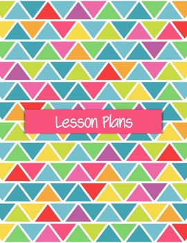 Editable Teacher Planner for High School and Middle School - Rainbow Triangles