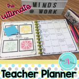 Editable Teacher Planner (in BW & Color) - Get organized a