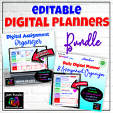 Editable Teacher Planners and Assignment Organizer BUNDLE