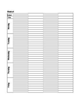 Editable Teacher Planning Pages