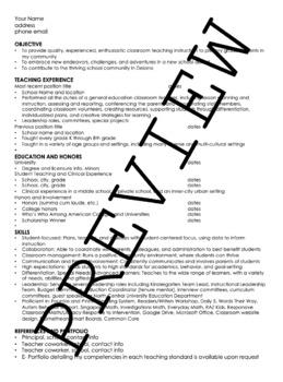 Editable Teacher Resume!
