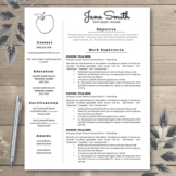 Teacher Resume Template EDITABLE Basic Resume