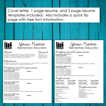 Editable Teacher Resume Template- Books Accent