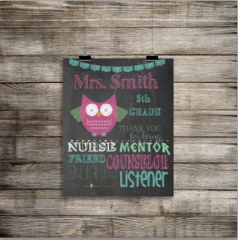 Editable Teacher Sign - Great Teacher Gift