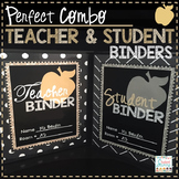 Teacher & Student Binders 2018-2019 Editable