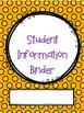 Editable Teacher Student Information Binder
