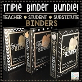 Teacher Binder Editable 2018-2019 - Student Binder - Substitute Binder