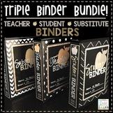 Teacher Binder Editable 2018-2019 - Student Binder - Subst