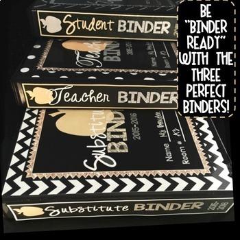 Teacher Binder Editable 2019-2020 - Student Binder - Substitute Binder