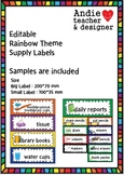 Editable Teacher Supply Labels, Toolbox Labels