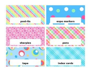 Editable Teacher Tool Box Labels