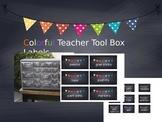 Editable Teacher Tool Box chalkboard labels