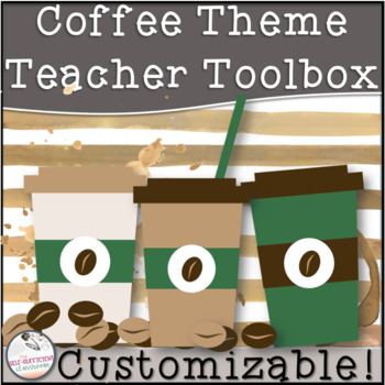 Editable Teacher Toolbox COFFEE Theme