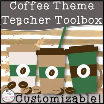 Editable Teacher Toolbox COFFEE Theme