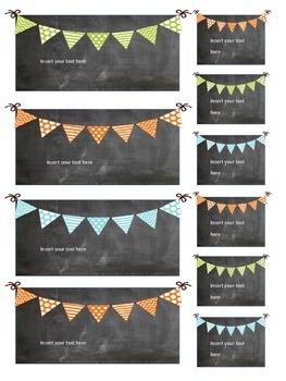 Editable Teacher Toolbox Chalkboard Labels