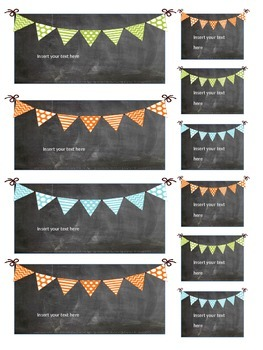 Editable Teacher Toolbox Chalkboard Labels