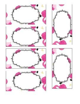 Editable Teacher Toolbox Flamingo theme