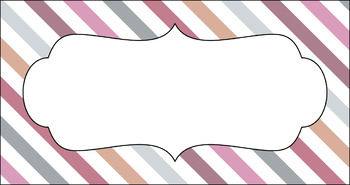 Editable Teacher Toolbox Labels - Multi-Color Collection: Afternoon Tea