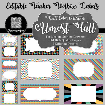 Editable Teacher Toolbox Labels - Almost Fall