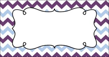 Editable Teacher Toolbox Labels - Amethyst
