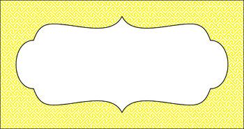 Editable Teacher Toolbox Labels - Basics: Brick Path and White