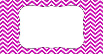 Editable Teacher Toolbox Labels - Basics: Chevron and White