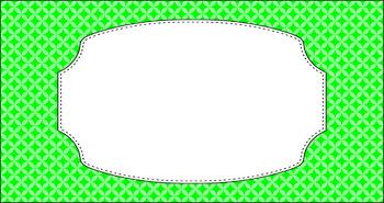 Editable Teacher Toolbox Labels - Basics: Circle Diamonds