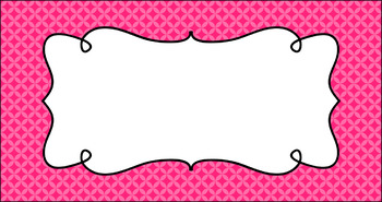 Editable Teacher Toolbox Labels - Essentials: Circle Diamonds