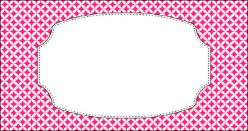 Editable Teacher Toolbox Labels - Basics: Circle Diamonds and White