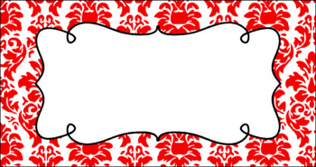 Editable Teacher Toolbox Labels - Basics: Damask and White