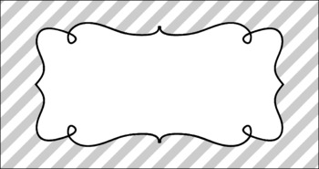 Editable Teacher Toolbox Labels - Basics: Diagonal Stripes