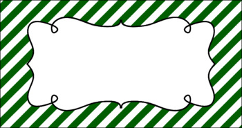 Editable Teacher Toolbox Labels - Basics: Diagonal Stripes and White