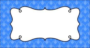 Editable Teacher Toolbox Labels - Basics: Diamond Scallops