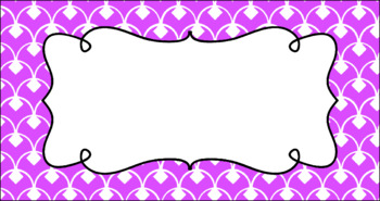 Editable Teacher Toolbox Labels - Basics: Diamond Scallops and White
