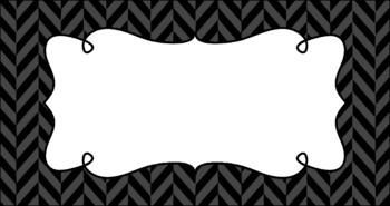 Editable Teacher Toolbox Labels - Basics: Herringbone