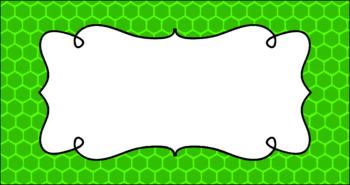 Editable Teacher Toolbox Labels - Basics: Honeycomb